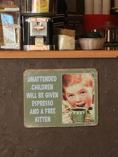 Spotted in a Carlsbad, CA café.