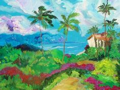 Hannalei Bay acrylic painting...we stayed here