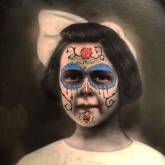 A personal favorite from my Etsy shop https://www.etsy.com/listing/461870584/victorian-sugar-skull-girl-altered-art