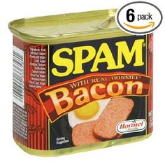 Ten of the Most Unusual SPAM Cans Spam Recipes, Gourmet Recipes, Hormel Bacon, Bacon Bacon, Spam Can, Seaweed Wrap, Healthy Slow Cooker, Mixed Drinks