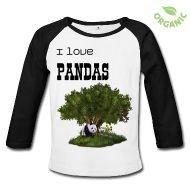cute Panda Baby Bio-Langarmshirt    Langärmeliges Shirt für Babys, 100% Baumwolle aus biologischem Anbau, Marke: Continental Clothing