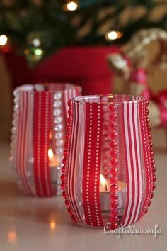 Add a festive look to your dining room table or fireplace mantel when you create these Scandinavian-Style Christmas Tea Light Holders! Valentine Day Crafts, Valentine Decorations, Christmas Decorations, Valentines, Christmas Craft Projects, Diy Projects To Try, Holiday Crafts, Christmas In July, Christmas Crafts