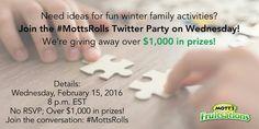#MottsRolls Twitter Party on 02/15/2017 at 8:00 PM ET - http://thisbirdsday.com/mottsrolls-twitter-party-on-02152017-at-800-pm-et/ #TwitterParty