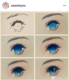 Artist: - - - I always put credits but if anyone still doesn't want to be featured send me a DM please Eye Drawing Tutorials, Digital Painting Tutorials, Drawing Techniques, Art Tutorials, Kawaii Drawings, Art Drawings Sketches, Pencil Drawings, Manga Drawing, Drawing Eyes