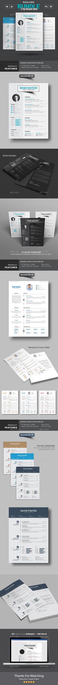 Resume Word Bundle Resume cv - buy a resume
