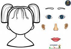 Body Parts Preschool Activities, Preschool Body Theme, Activities For 5 Year Olds, Autism Activities, Preschool Education, Art Activities For Kids, Preschool Worksheets, Book Activities, Preschool Crafts