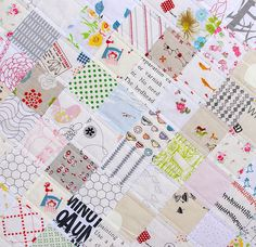 I like the way she quilted along side the seams instead of stitch in the ditch