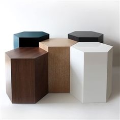 Our custom Hive Collection Side Tables. to - you can arrange these in any creative configuration for a modular coffee table or side table. Made in Bridgehampton for Dining Room Furniture Design, Cheap Patio Furniture, Basement Furniture, Furniture Layout, Unique Furniture, Custom Furniture, Apartment Furniture, Luxury Furniture, Office Furniture