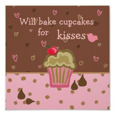 Search for customizable Cupcake Humor posters & photo prints from Zazzle. Check out all of the spectacular designs or make your own! Cupcake Quotes, Cupcake Art, Cupcake Cakes, Baking Quotes, Personalised Cupcakes, Cupcake Heaven, Cute Poster, Baking Cupcakes, Make Your Own Poster