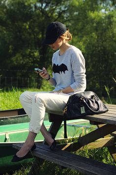 bat sweater. how cool is that?