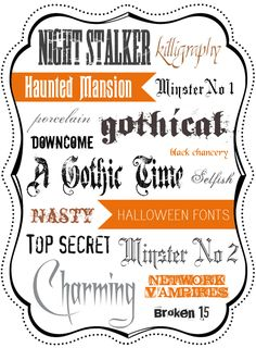 Free Halloween Fonts, typography