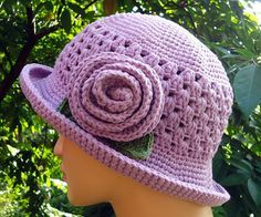 Free Ravelry Download.  Granny, brimmed summer hat