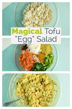 This isn't your average tofu egg salad. Spiked with Italian seasoning, fresh parsley, and crunchy carrots, it is going to up your sandwich game.  #tofusalad #tofueggsalad #vegan #veganeggsalad #sandwich #plantbased #tofu Tofu Salad, Egg Salad, Vegan Starter Guide, Fast Healthy Meals, Healthy Food, Vegan Recipes Easy, Tofu Recipes, Vegetarian Recipes, Veggie Snacks
