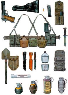 """Personal Equipment, US Marine Corps M41 and M61 Patterns"""