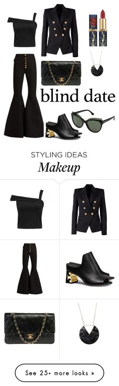 """black is always a good idea..."" by olkvrcnewone on Polyvore featuring E L L E R Y, Chanel, Balmain, Tory Burch and Balenciaga"