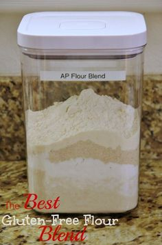 3 c each brown rice flour and tapioca starch, 2 c sorghum flour, 1 c coconut flour == combine flours - store in a large airtight container - - add xanthan gum to your dry ingredients, not to the flour mix (1/4 t - 1 t per cup of flour depending on what you are making) - use cup for cup (a little additional liquid may be necessary in recipes due to the absorbency of the coconut flour)