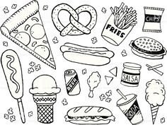 Junk Food Doodles royalty-free stock vector art