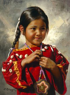 Romance of the World — midnight-summerx: Vladimir Volegov American Indian Girl, Native American Children, Native American Quotes, Native American Indians, Classical Realism, First Nations, New Artists, Inspiration, Portrait