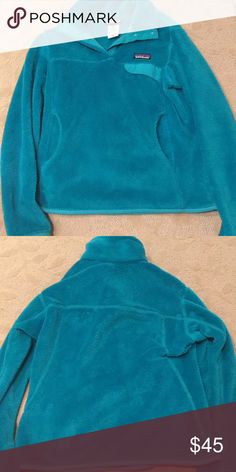 Patagonia pullover Turquoise Patagonia pullover barely worn. Patagonia Jackets & Coats