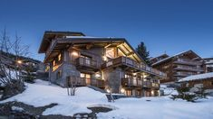 #luxuryskichalet Le Grenier, a gigantic, five-story, #chalet of the highest quality with ski-in/ski-out access to the Hulotte piste. #Meribel