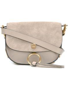CHLOÉ 'Kurtis' shoulder bag. #chloé #bags #shoulder bags #suede #