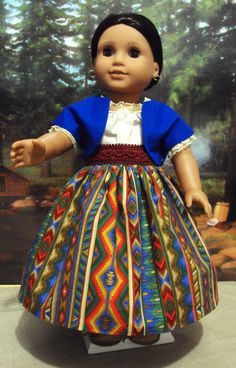 Historical Josefina's American girl skirt, sash, jacket, and camisa or most any 18 inch doll  Very pretty