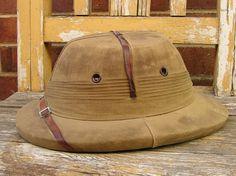 Vintage Safari Hat - Pith Helmet