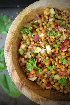 Super Fresh yet Filling Lentil Tabouli Salad, made with French Lentils, Radishes, Red Onion, Tomatoes, Parsley and Mint. #easysaladrecipe #taboulirecipe #lebanesefoodrecipe #freshsaladrecipe #taboulisalad #taboulirecipelebanese #lentilsalad #lentilsalad #