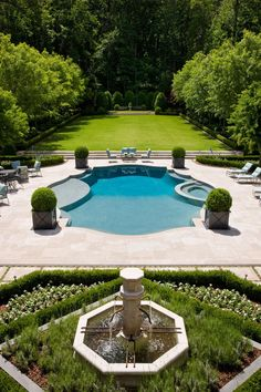 Pool, hardscape, site design and garden by Howard Design Studio in collaboration with Harrison Design Architects. Architectural Landscape Design