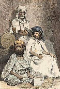 Algeria Types et costumes: Arabe Mendiant, Négresse De Biskra et Femme D´El Kantara