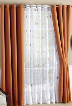 Fleur De Lis 6 Piece Drape Curtain Set