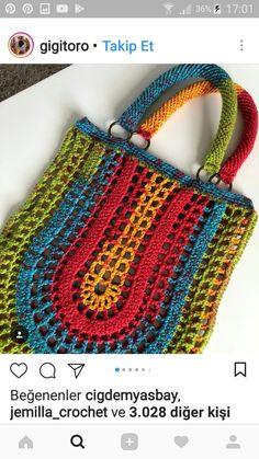 Marvelous Crochet A Shell Stitch Purse Bag Ideas. Wonderful Crochet A Shell Stitch Purse Bag Ideas. Crochet Market Bag, Crochet Tote, Crochet Handbags, Crochet Purses, Love Crochet, Filet Crochet, Crochet Crafts, Crochet Projects, Knit Crochet