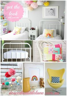 sweet girls room.  This will be perfect for if the girls share a room in the new house.