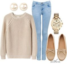 I like this more casual outfit., like this more casual outfit. Fall College Outfits, Casual Fall Outfits, Fall Winter Outfits, Simple Outfits, Outfits For Teens, Autumn Winter Fashion, School Outfits, College Wear, Winter Ootd