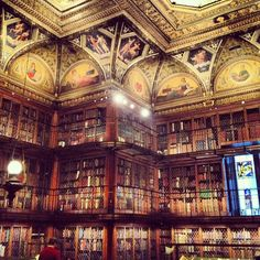 Am I in heaven or what? — at JP Morgan Library | Instagram photo by @stephaniestclaire