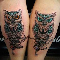 matching owl tattoos for couples - Google zoeken