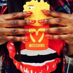 Moschino Nails #McDonald #Moschino #ManoirCoquetterie