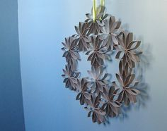 Very impressive: Toilet Paper Roll Wreath by all things paper, via Flickr