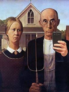 AMERICAN GOTHIC SELFIE.                                                                                                                                                                                 More