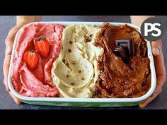 Tres sabrosos helados para disfrutar este verano en solo cinco m . Cookie Desserts, Sweet Desserts, Sweet Recipes, Delicious Desserts, Vegan Recipes, Dessert Recipes, Helado Natural, Sweet Factory, Make Ice Cream