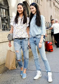 Liu Wen and Sui He looking all summery and adorable