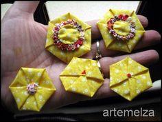 ARTEMELZA - Arte e Artesanato: Fuxico em hexágono muito fácil | Hexagonal yo-yo v...