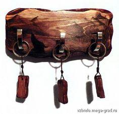 """Ключница настенная """"Горный пейзаж"""" - изделия из дерева, дизайнерские принадлежности для прихожей. МегаГрад - авторская ручная работа"""