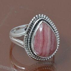RHODOCHROSITE 925 STERLING SILVER RING JEWELRY 6.01g DJR7007 SIZE 7 #Handmade #Ring