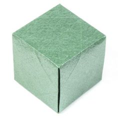 simple origami cube - make and attach to fairy lights, pretty string of lights!