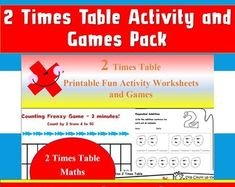 Maths Worksheets Multiplication Games Times Tables Kids by Ninalazina Multiplication Games, Math, 2 Times Table, Activity Games, Activities, Fun Worksheets, Table Games, Homeschool, Printables