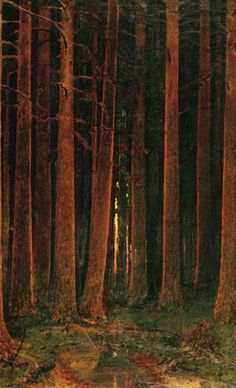 Arkhip Kuindzhi. Sunset in the forest