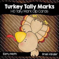 Teaching with Nancy Tally Marks, Early Math, Math Skills, Bowser, Turkey, Teaching, Kindergarten Thanksgiving, Cards, Printables