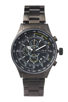 """Look to Links if you want to wear designs reminiscent of classic, high-end pieces, but at an affordable price. Watch of the collectionTheMPH Gunmetal chronograph could be mistaken for a flight watch. It offers 100 metres water resistance and """"lume"""" on the hands. £395. linksoflondon.com"""