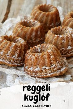Almás-zabpelyhes mini kuglóf - tökéletes reggelire! - Tündér Kert Healthy Cake, Healthy Sweets, Real Food Recipes, Cookie Recipes, Yummy Snacks, Yummy Food, Cooking Cake, Street Food, Food To Make
